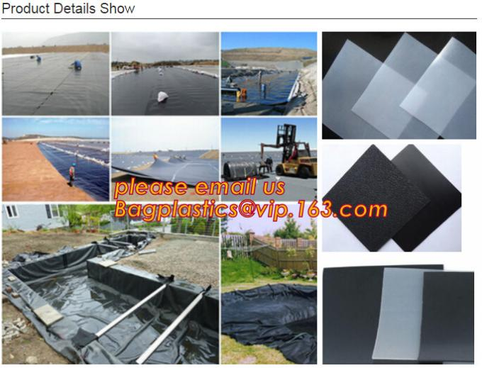preço eco-amigável do geomembrane do forro do geomembrane do hdpe, membranas waterproofing BAGEAS do forro eco-amigável do geomembrane do hdpe