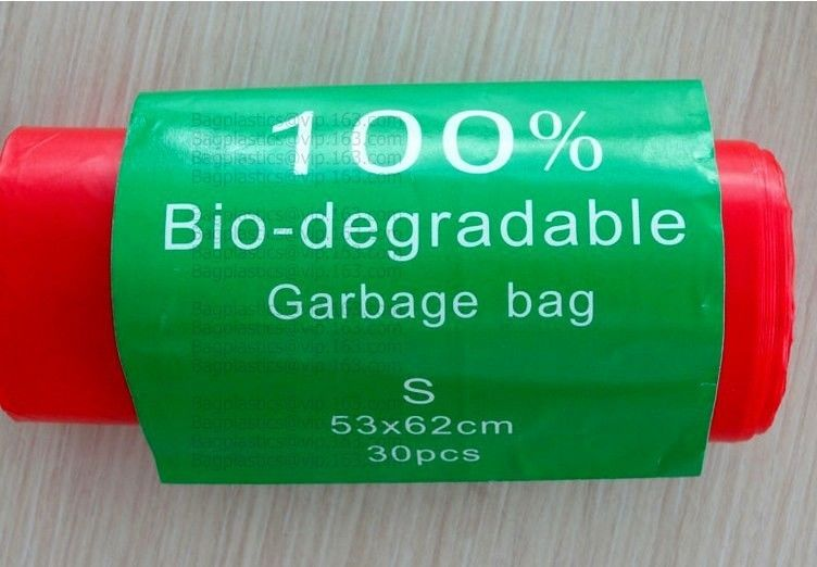 100% Biodegradable Food Waste Bags Compostable Grocery Shopping for Take Out