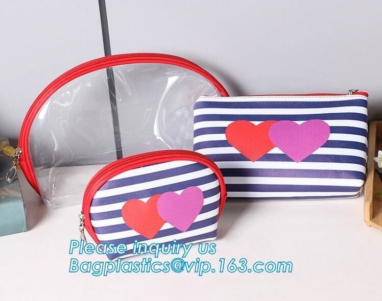 Eco Shopping Bags Toiletry Kits Pvc Zipper Pouch Makeup Cosmetic Travel Organizer