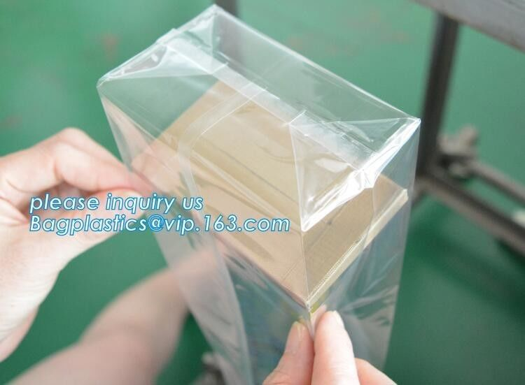 Cellophane Block Stand Up Pouch Square Bottom Biodegradable Self Adhesive