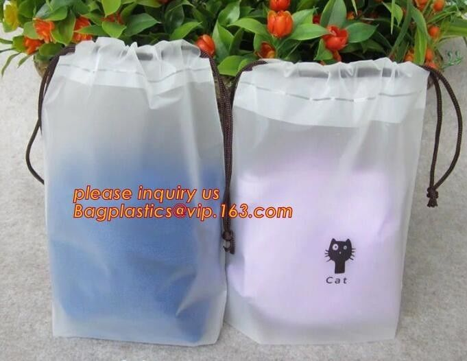 Cotton String Biodegradable Laundry Bags Custom Drawstring  Logo Printed