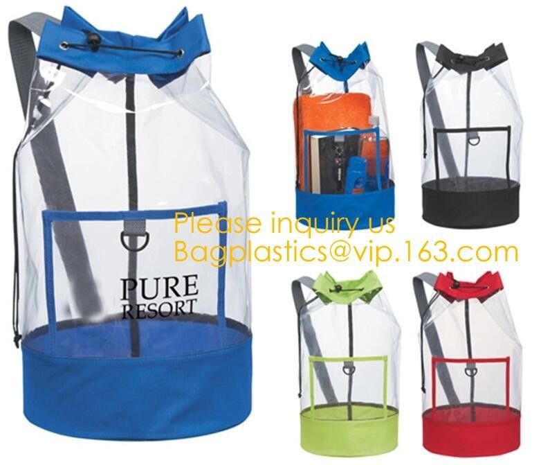 Eco friendly Biodegradable Laundry Bags Backpack Duffel Sport Polyester String