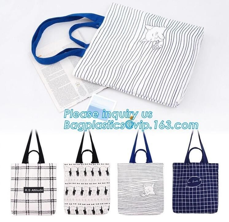 Tote Heavy Duty Plastic Bags Handled Cotton Canvas Tote Fancy Eco Friendly Fashion