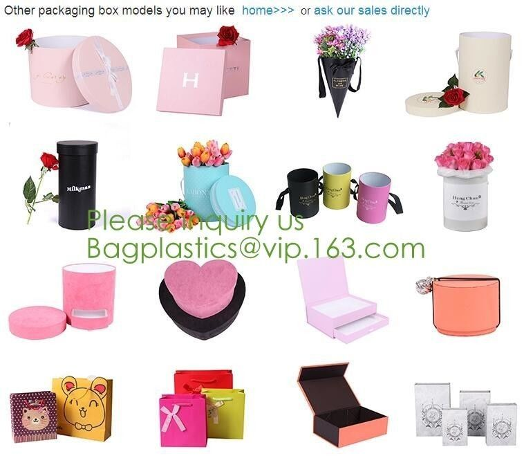 Chocolate Food Gift Box Packaging Wedding Invitation Paper Box Foldable