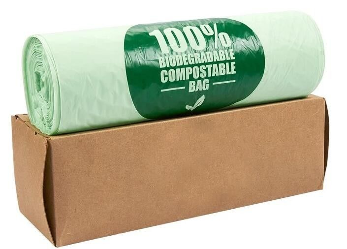 OEM Biodegradable Compost Bags On Roll Supermarket Food Waste Caddy Liner