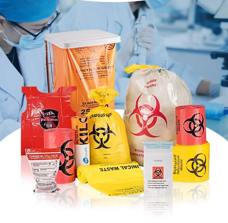 Biodegradable Autoclavable Biohazard Bags Biological Hazard Polythene Material